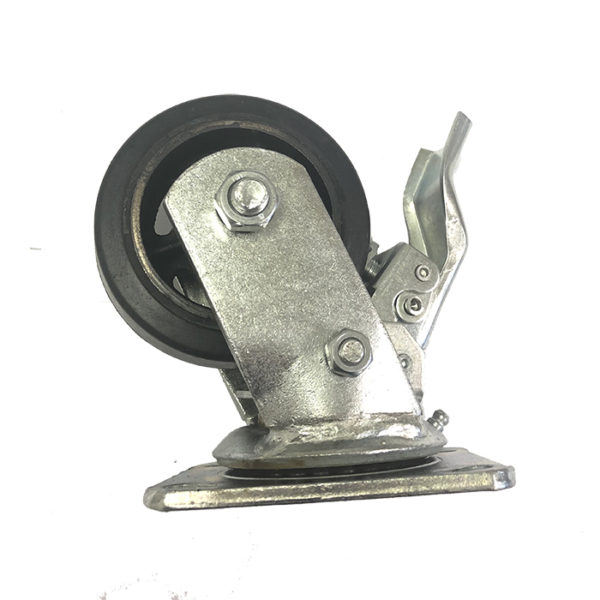 4''X2'' TOTAL LOCKING MOLD ON RUBBER CASTER